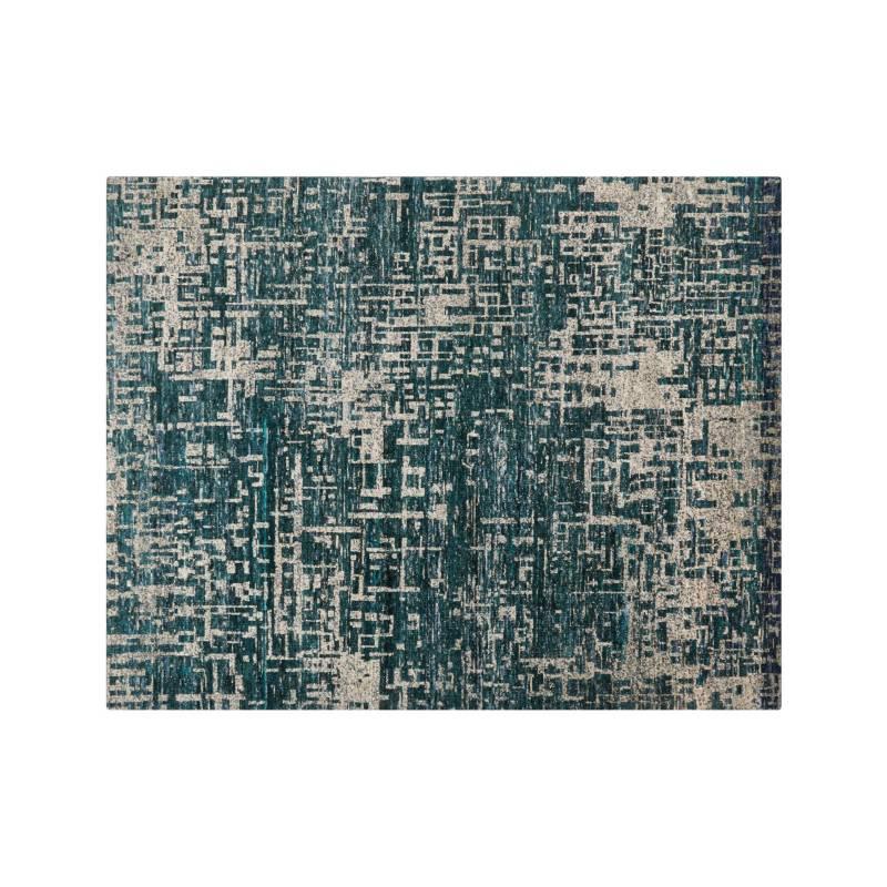 CRATE & BARREL - Alfombra Celosia Azul Indigo 244x305cm