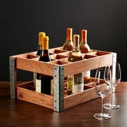 CRATE & BARREL - Caja/Estructura de Estantes para Vino