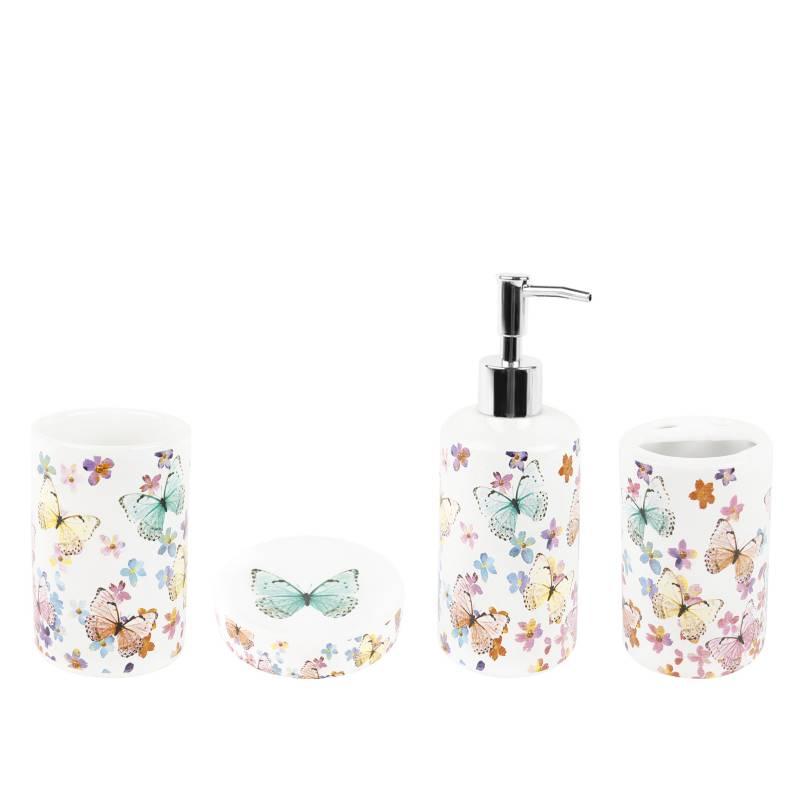 ROBERTA ALLEN - Set de accesorios para baño Mariposa