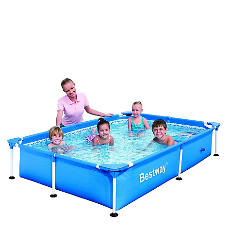 Piscina rectangular for Cubre piscina bestway