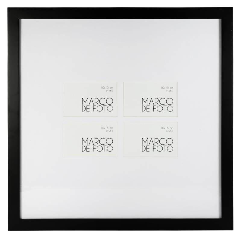 MICA - Multimarcos de Foto Multi x4 Negro