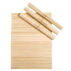 MICA - Set x4 Individual Bamboo Sólido Natural