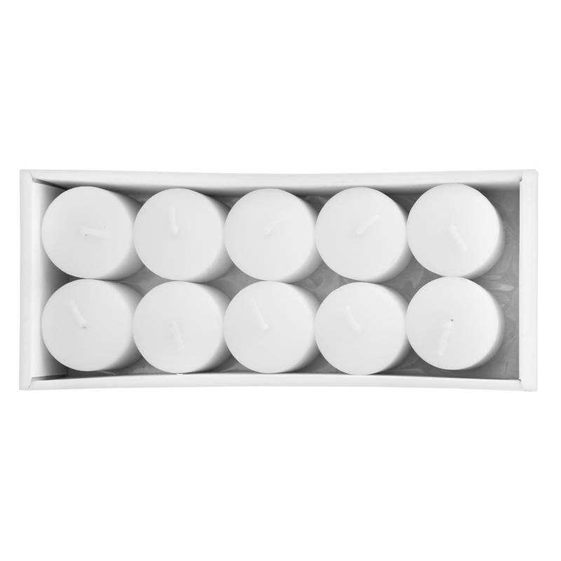 MICA - Set x10 Velas Blancas