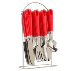 AMBIENTA - Set x24 Cuchillos Rojo