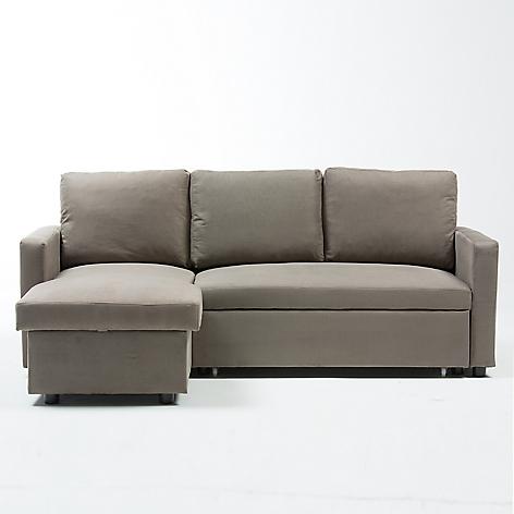 Sof cama mica 3 cuerpos tela gris for Sofa cama sodimac