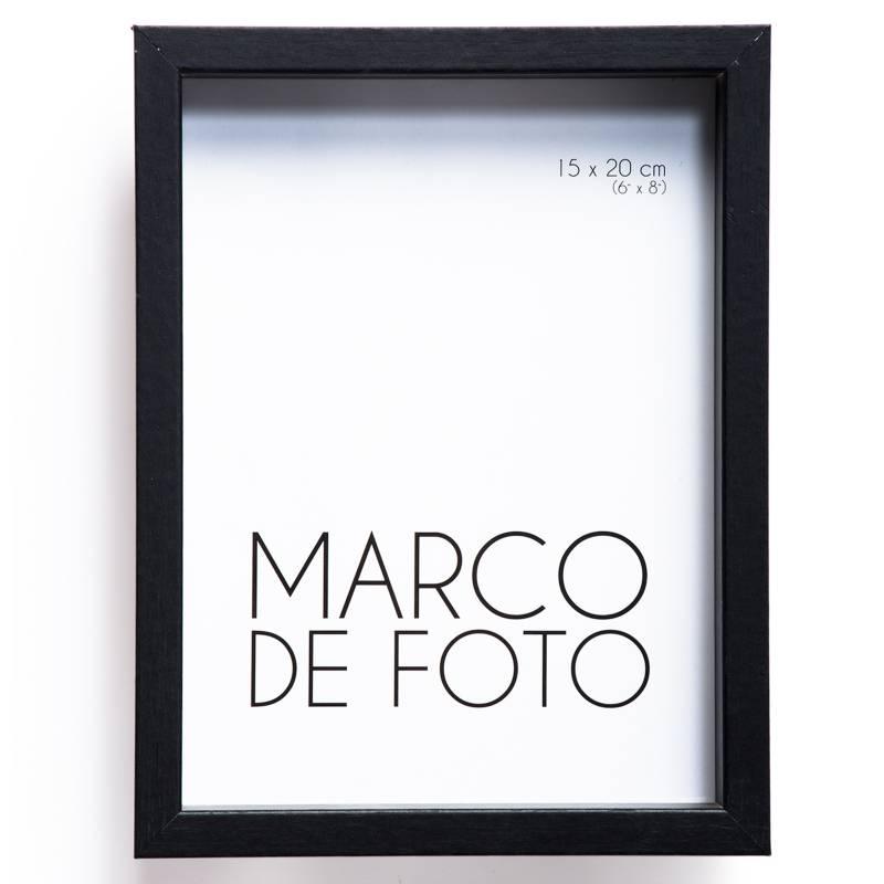 MICA - Marco de Foto Cajón Negro 15 x 20 cm