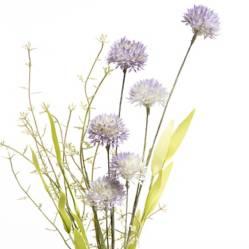 MICA - Flor Pompon Purpura 61 cm