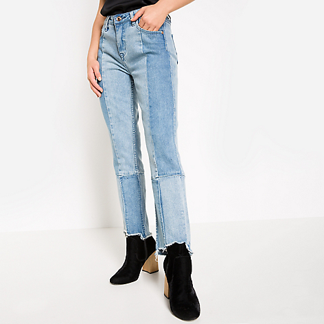 Resultado de imagen para bicolor jeans