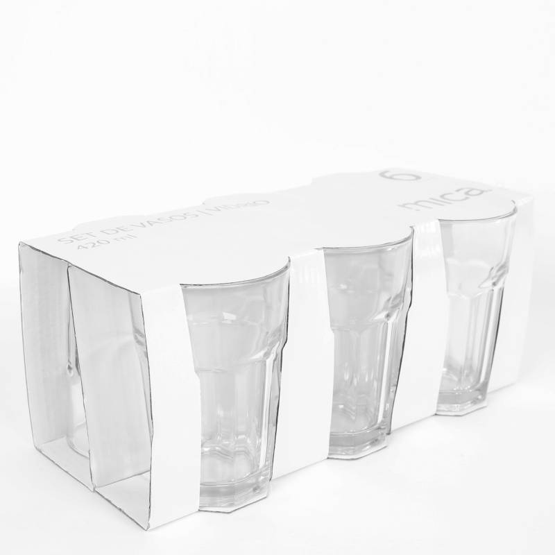 MICA - Set X 6 Vasos Tableados