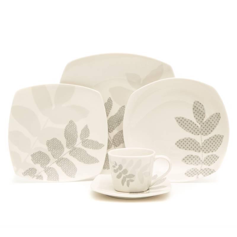 MICA - Juego de Vajilla 30 Pzs Porcelana Mabel