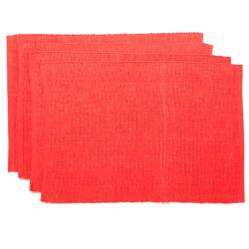 Set x4 Individuales Basic Rib Rojo