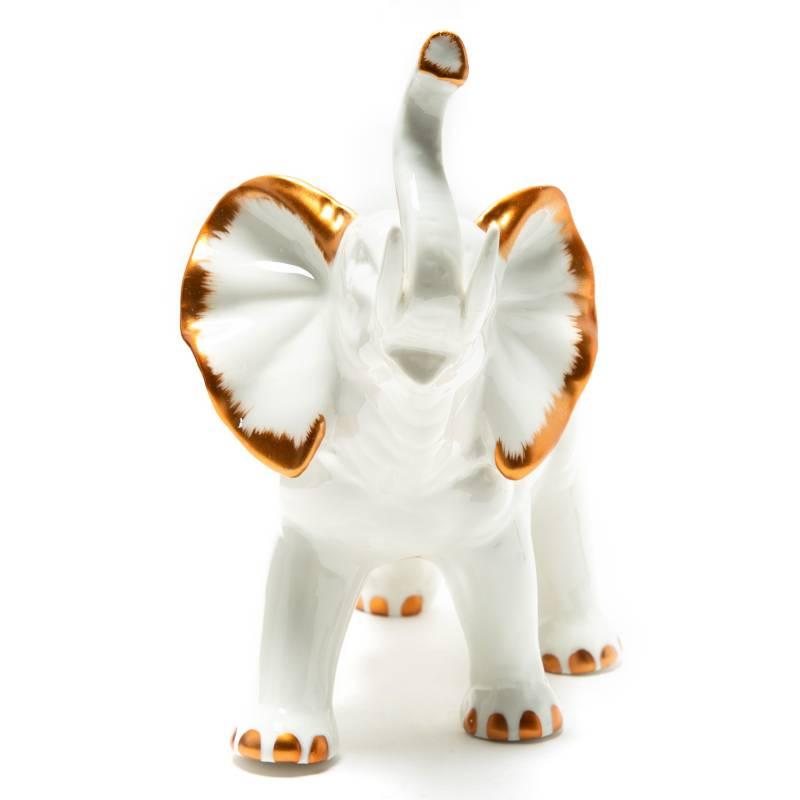 MICA - Adorno Elefante Blanco 15 cm