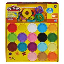 PLAY DOH - Set de 18 barriles de Plastilina