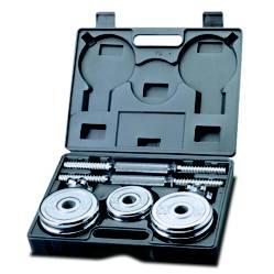 Bodytone - Kit de pesas cromadas 20 Kg