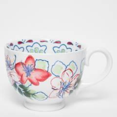 ROBERTA ALLEN - Mug Flori Blanco 15 cm