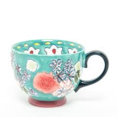 ROBERTA ALLEN - Mug Flori Turquesa 15 cm