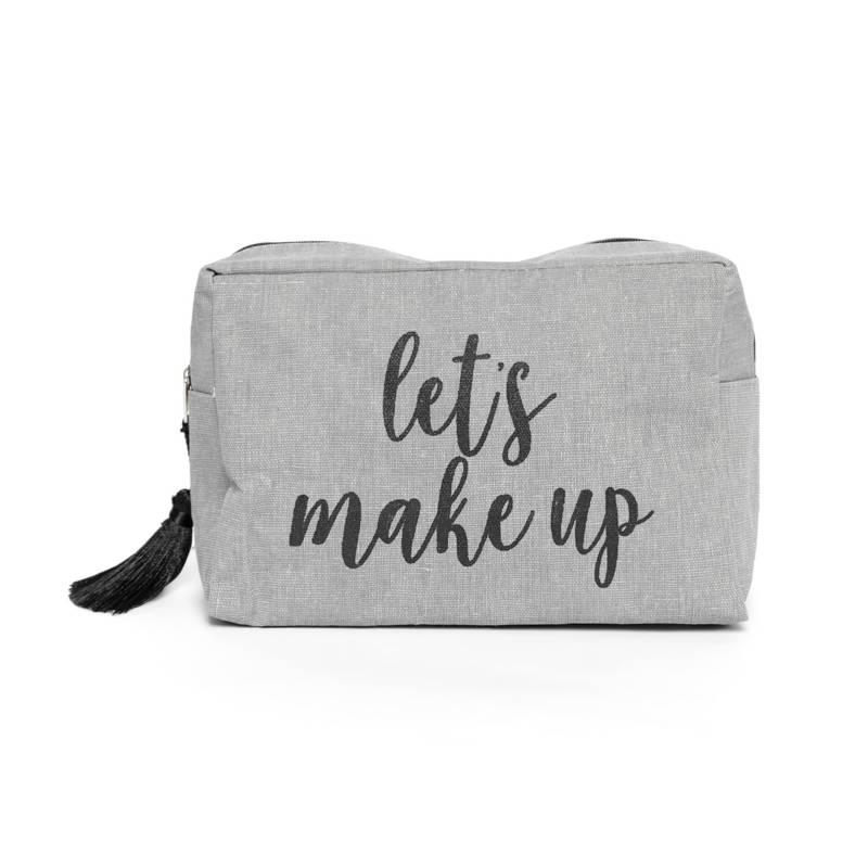 Neceser Filero Gris 20x14 cm Makeup
