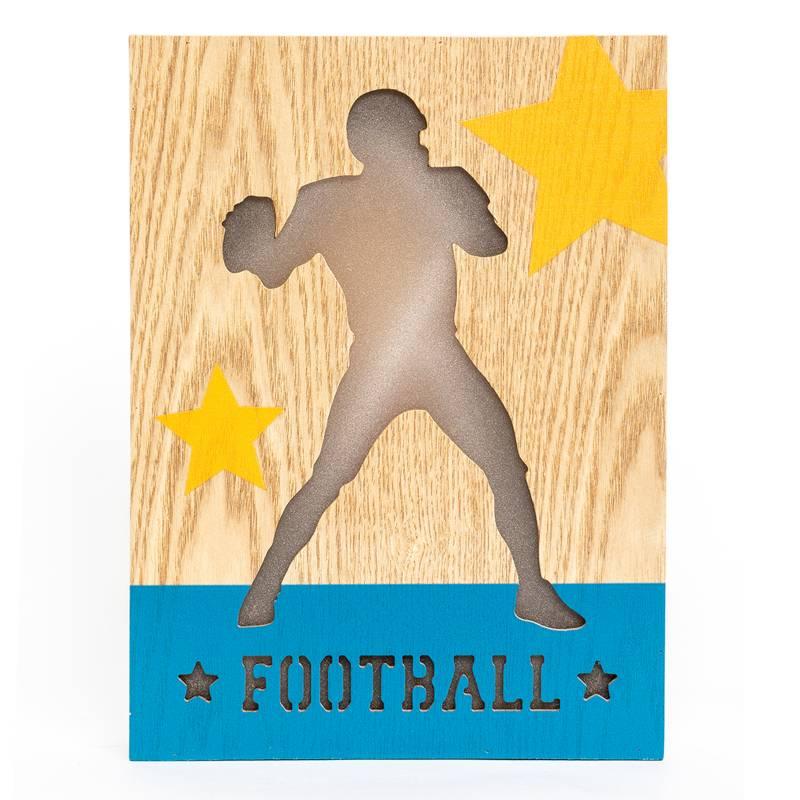 MICA - Canvas Luz Futbol Americano 20x26 cm