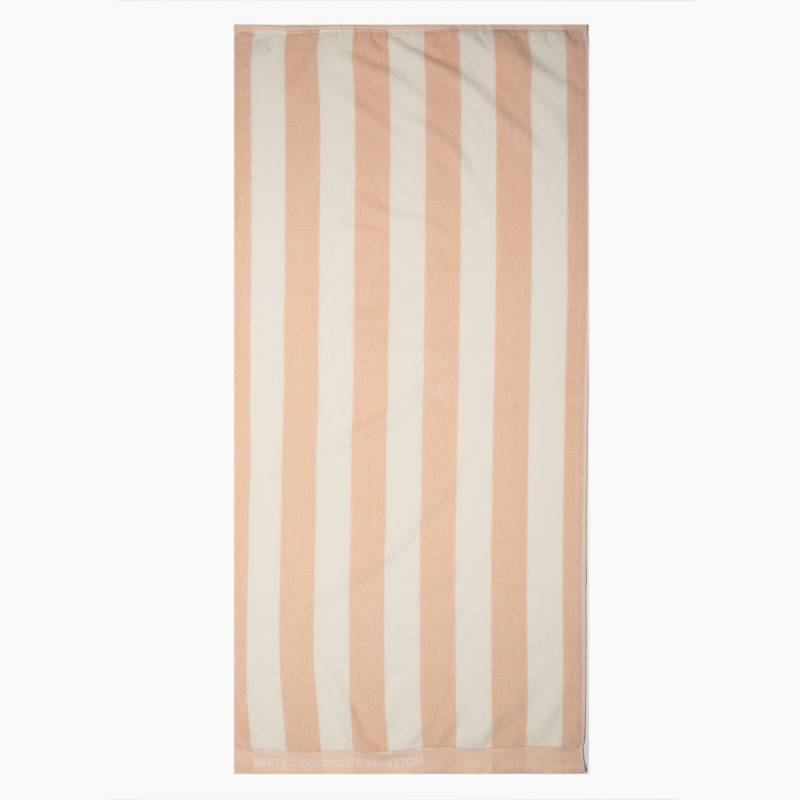 BENETTON - Toalla de Playa Stripes Rosado