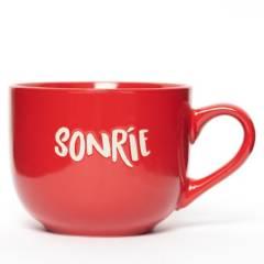 """MICA - Mug Rojo """"Sonrie"""""""