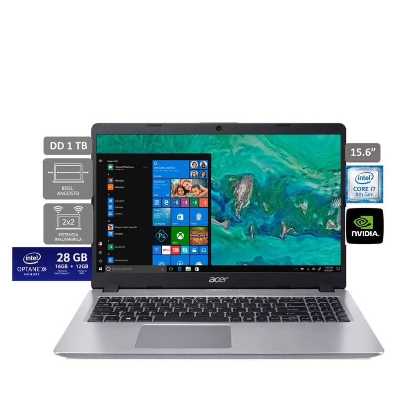 ACER - Laptop Aspire 5 Core i7 8va Gen 12GB RAM+16GB Optane 1TB + 2GB Video Nvidia