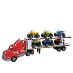 POWCO - Camión Transportador Fricción Rojo