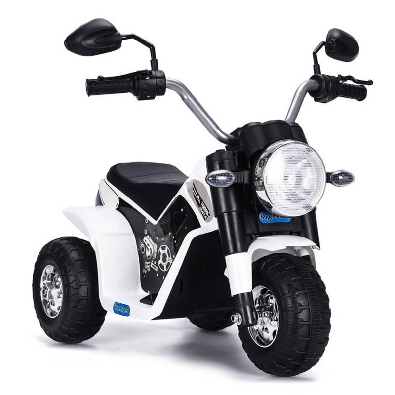 SCOOP - Moto A Batería Para Niños Negro