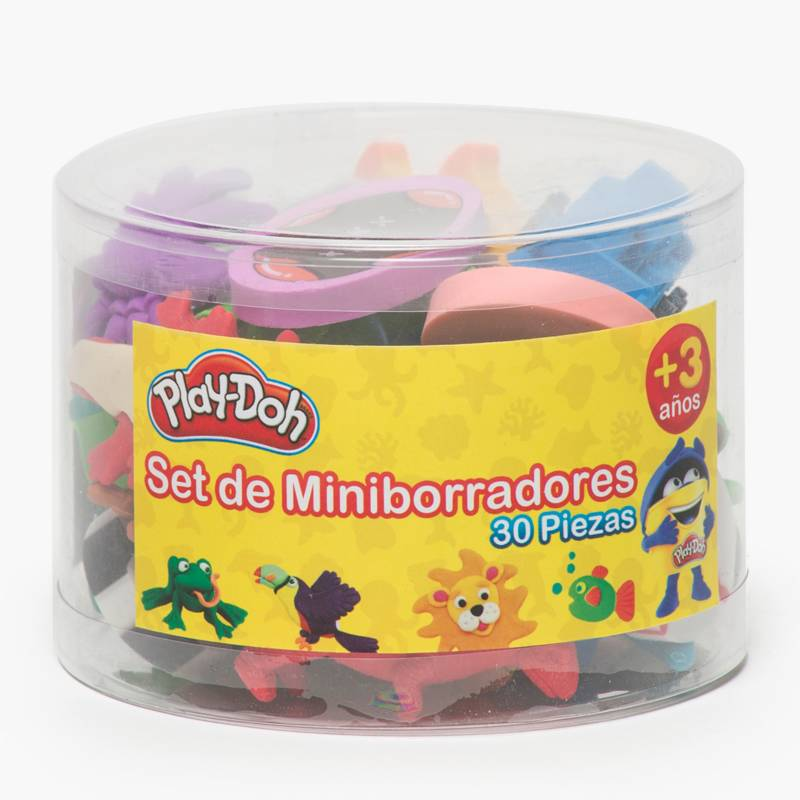 PLAY DOH - Set 30 Miniborradores de Animales