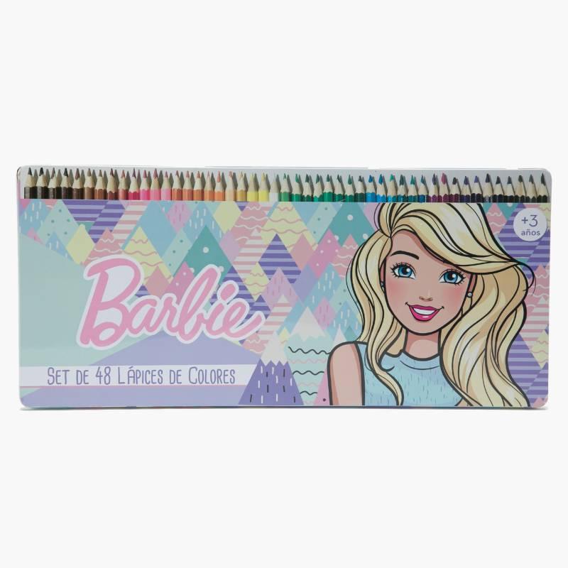 BARBIE - Set 48 Lápices de Colores