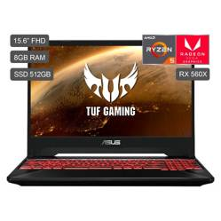 Laptop Gamer TUF Ryzen5-3550H 512GB SSD 8GB RAM  + 4GB Video AMD Radeon RX560X - Pantalla Full HD