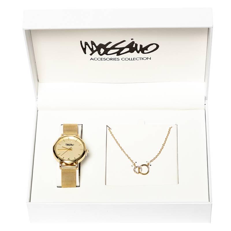 MOSSIMO - Set Reloj Malla Collar Red
