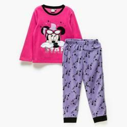 MINNIE - Pijama Manga Larga Con Pantalón De Polar