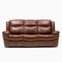 BASEMENT HOME - Sofá Reclinable Kanye 3 Cuerpos Cuero