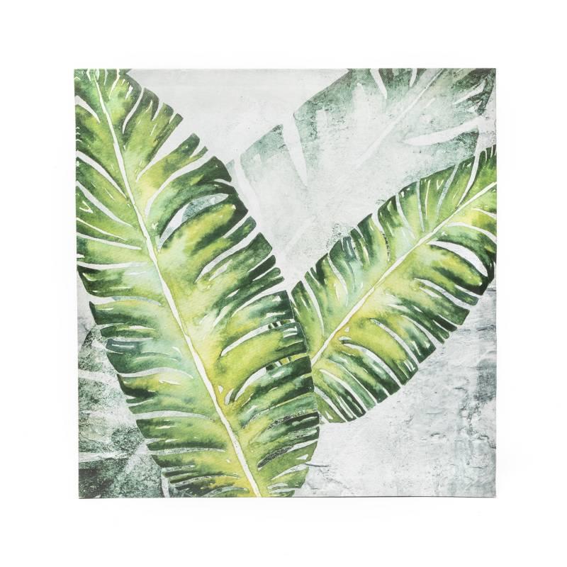 MICA - Canvas Hojas 40x40x2cm