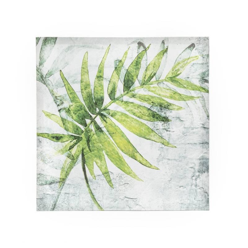MICA - Canvas Hoja 40x40x2cm