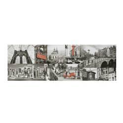 MICA - Canvas Blanco y Negro 30x90x3cm