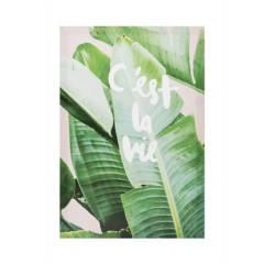 MICA - Canvas Hoja Palmera 39x56x2cm