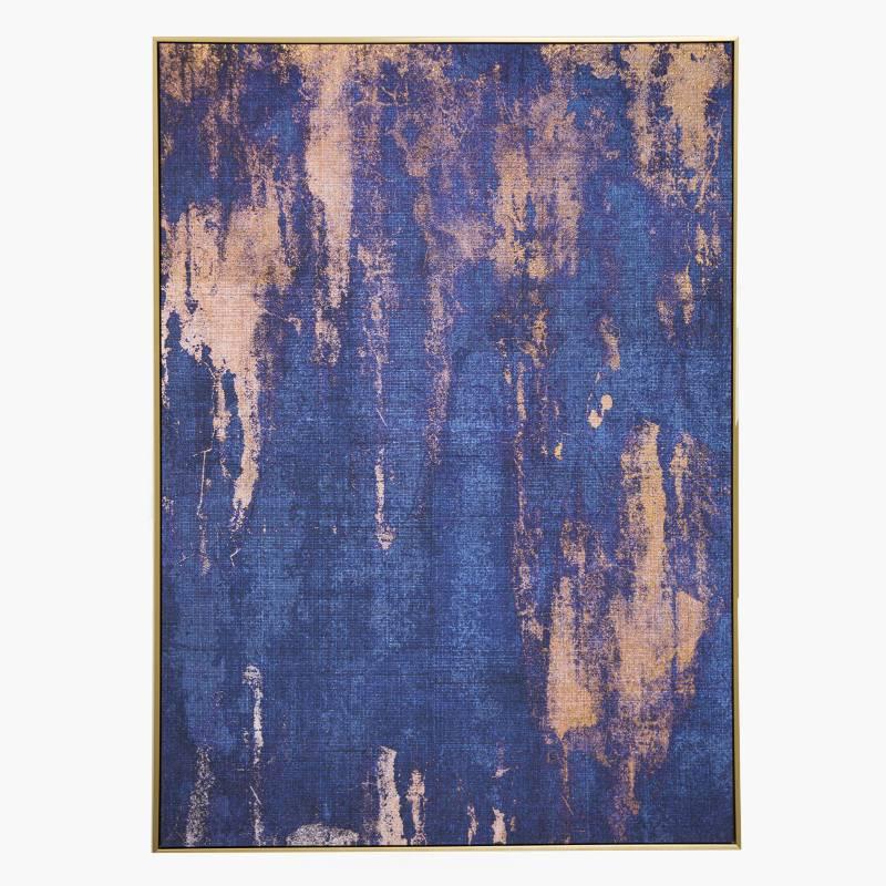 MICA - Canvas Azul y Dorado 100x140cm