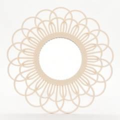 MICA - Espejo Crema Flor 50cm