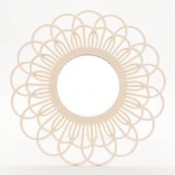 Espejo Crema Flor 50cm