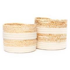 MICA - Set x2 Canastos Redondos Blanco
