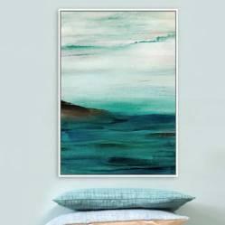MICA - Canvas Blanco y Verde 100x140cm