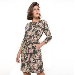 ELLE - Vestido Corto Estampado Mujer Elle