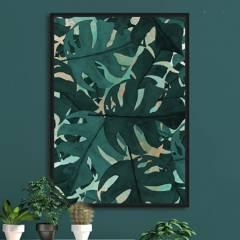 MICA - Cuadro Hoja Verde 80x120 cm