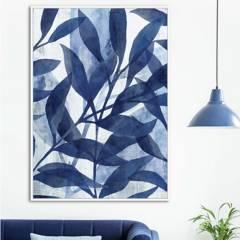 MICA - Cuadro Hojas Azul 80x120 cm