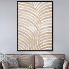 MICA - Cuadro Hoja Dorado 80x120 cm