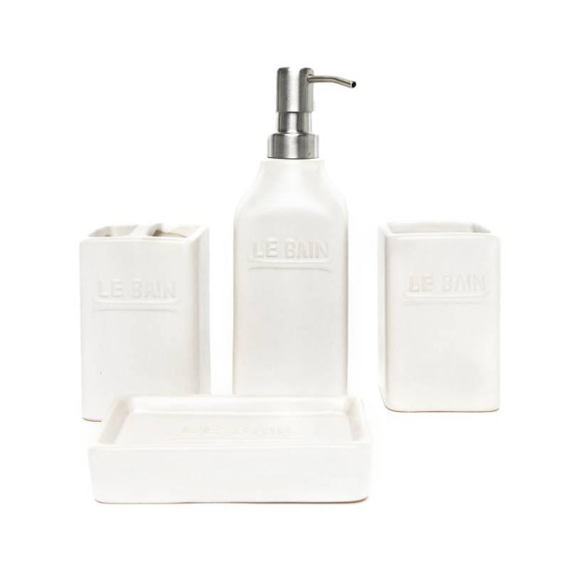 MICA - Set Accesorios Baño Blanco