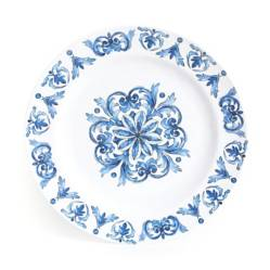 ROBERTA ALLEN - Plato Fondo Blue Mosaic