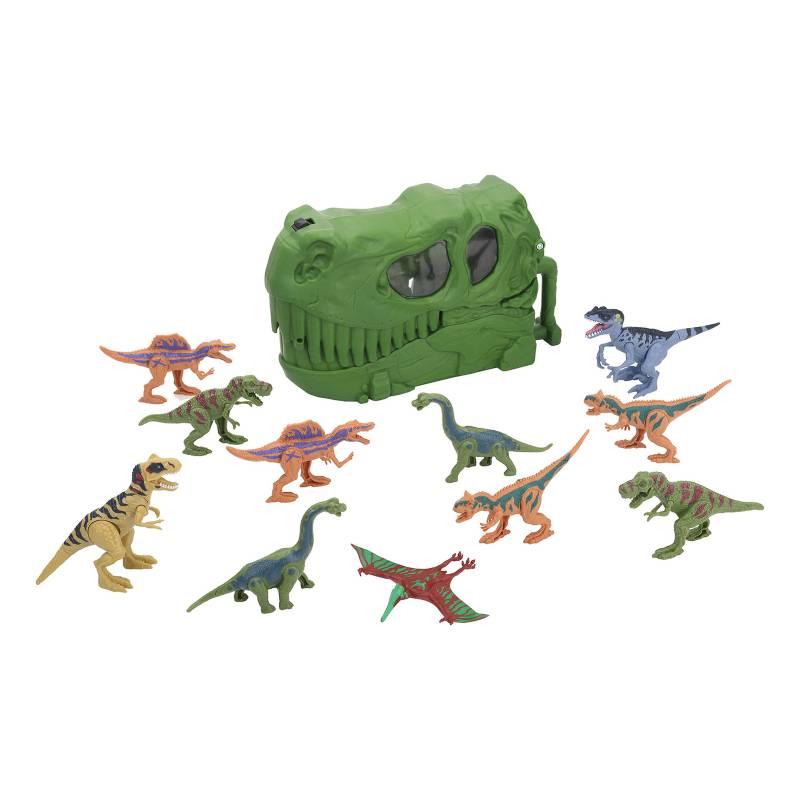 DINO VALLEY - Set de Juguetes Maleta con 11 Dinosaurios