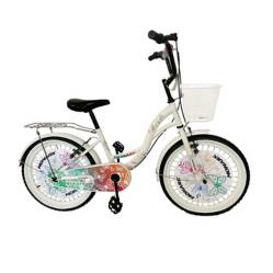 """Monark - Bicicleta Butterfly Aro 20"""" Blanca Niña Acero"""